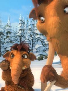 Ellie si Peaches din Ice Age 3 - Desene animate - Poze