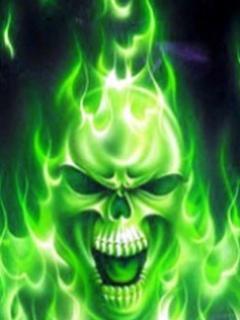 Cap de mort verde